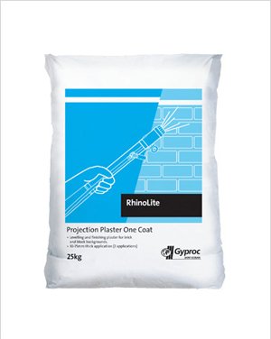 RhinoLite Projection Plaster One Coat