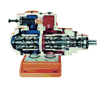 Three Screw spindle pumps