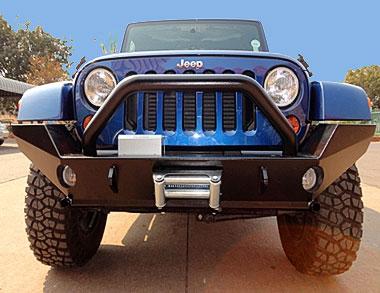 Buy Jeep Wrangler JK Replacement Mild Steel Black F/Bumper