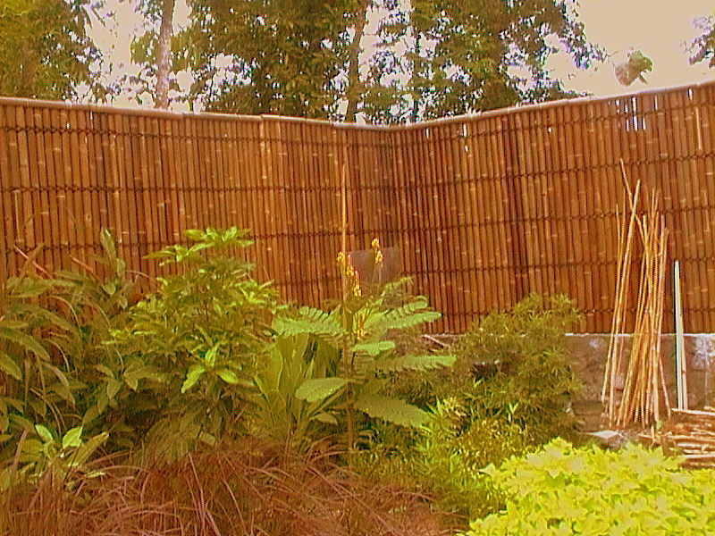 Beautiful Bamboo Garden Fence Panel