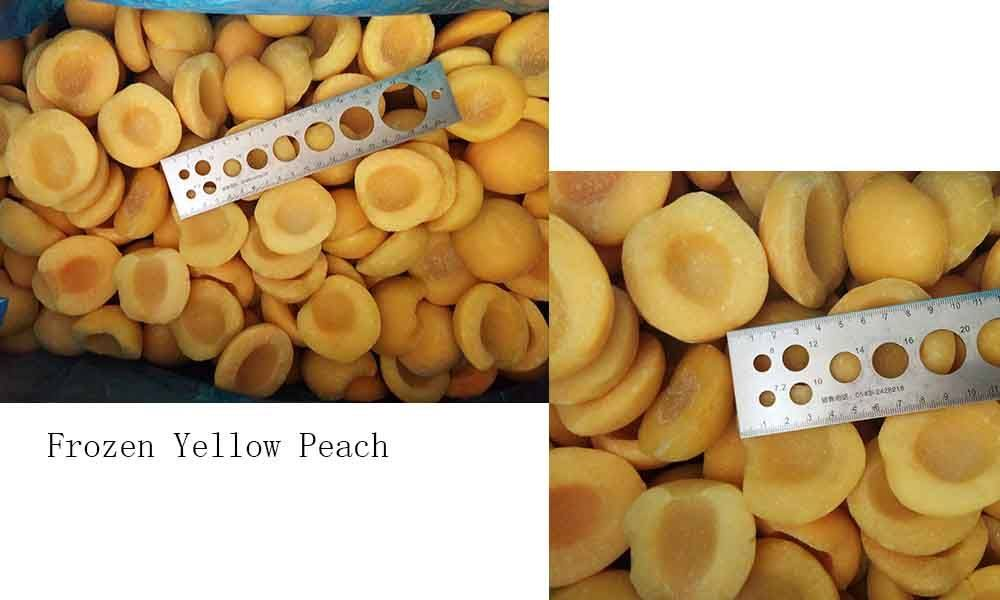 Frozen Yellow Peaches Diced For Sale