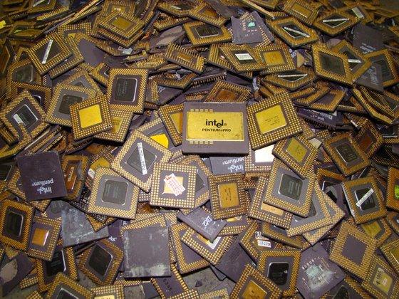 100% Intel Pentium Pro Ceramic CPU, CPU CERAMIC PROCESSOR scrap for gold pins recovery 200