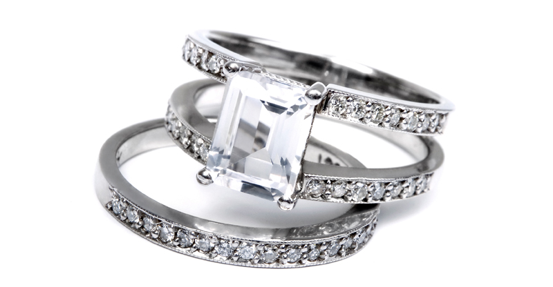 white sapphire and engagement rings buy white