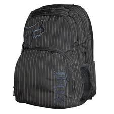 Allover pinstripe backpack