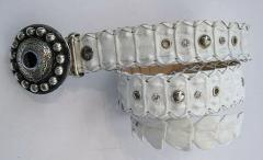 Crocodile Horn Back Jean Belt with Decor