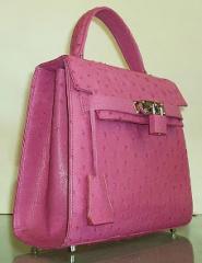 Pink Ostrich Bag