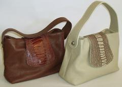 Ostrich Flap Over Bag