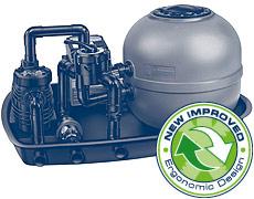 AQUASWIM® sand filter with BADU®Porpoise self-priming pool pump