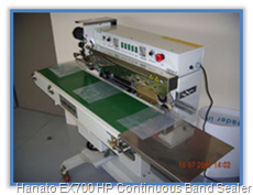 Hanato EX700 HP Continous Band Sealer