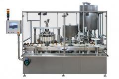High speed rotary monobloc machine