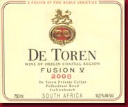 Fusion V 2008 Wine