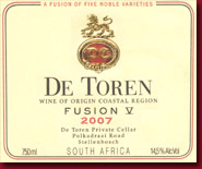 Fusion V 2007 Wine