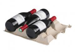 Wine bottle trays / carriers / dividers for