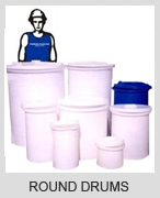 Plastic water drums