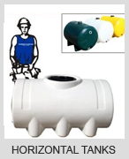 Heavy Duty Horizontal plastic water Tanks