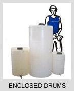 Plastic Enclosed Drums