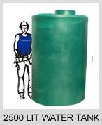2500 litre water tank