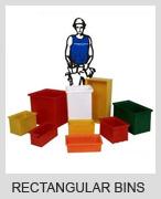 Plastic Rectangular bins