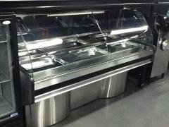 Commercial Meat Display Curved Glass Fridges For