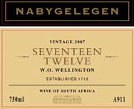 Seventeen Twelve 2007 Wine