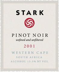 Stark Pinot Noir 2001 Wine