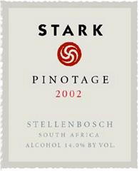 Stark Pinotage 2002 Wine