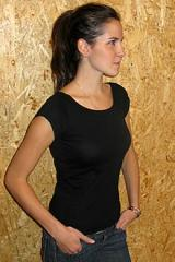 Ladies Open neck Fitted Tee