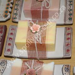 Handmade Soap in Ceramic Soap Dish