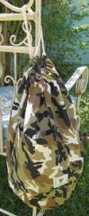 Khaki Camo Duffel Bag