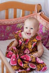 Cherry & Pink Cartwheels Baby Sleeping Bag